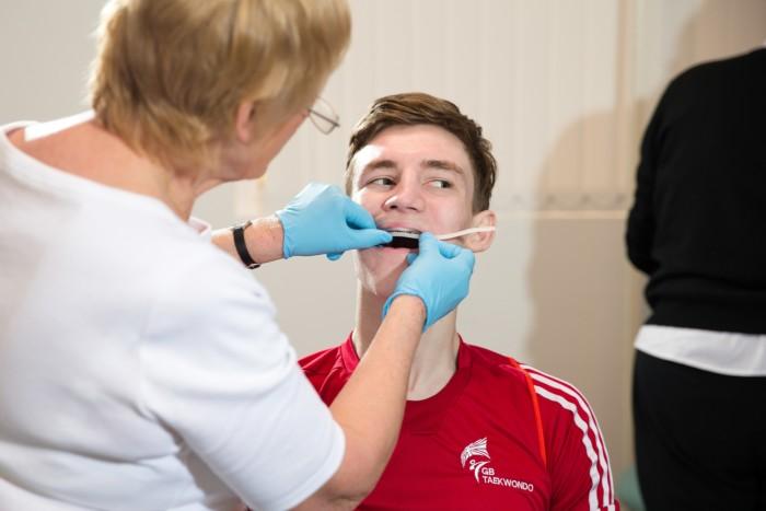 How do Olympians protect their teeth?